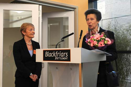 HRH Princess Royal opens Blackfriars Settlement