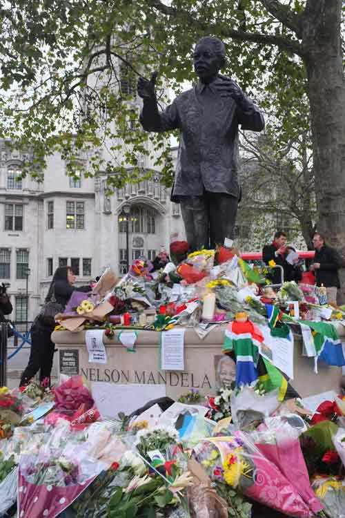 Nelson Mandela memorial in London